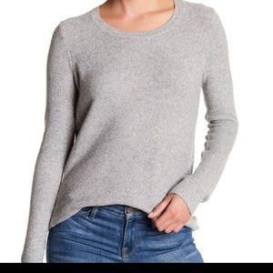 Madewell Riverside Grey Waffle knit sweater